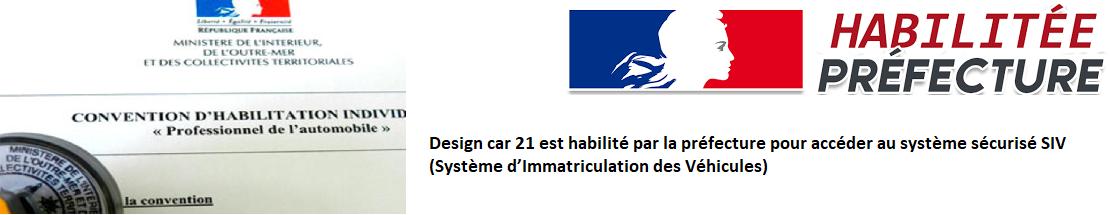 Design car 21 habilité SIV